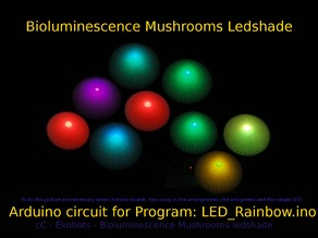 Ekobots - Bioluminescence Mushrooms Ledshade