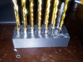Holder for drill bits.