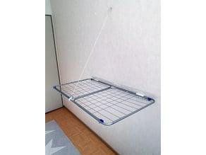 Laundry rack wall mount