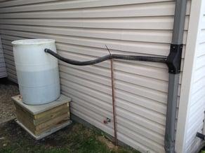 "Rain Barrel Water Diverter for 2-5/8"" square downspout"