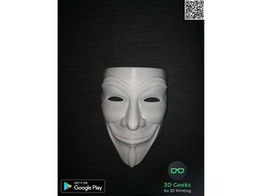 Guy Fawkes Mask with air holes