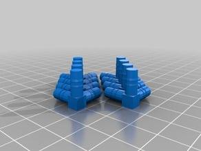 Connecteurs pour le montage d'un cube ( solide de Platon ) avec des pailles
