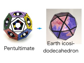 Earth Icosidodecahedron puzzle