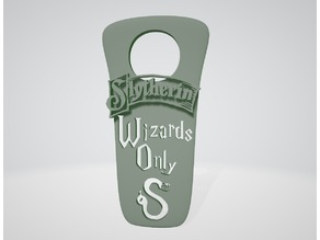 """Wizards Only"" Slytherin (New Version) - Harry Potter ""do not disturb"""