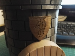 separated Shield for [Dice Tower with Secret Chamber for Dice Storage]