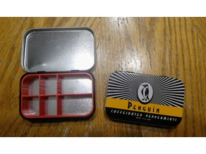 Snaptight Penguin Tin Divider - 1.75oz Caffeinated Peppermints