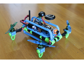 Indestructible partially flexible quadcopter