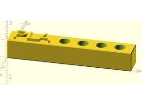 customizable Mk8 nozzle plate