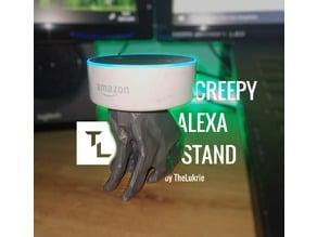 Creepy Alexa stand (Alexa Sphinx)