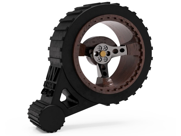 Steering wheel with knob for Flysky FS-GT3C radio