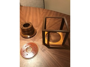 Lithophane Cube remixed - best lithophane lamp - small remix to fit IKEA generic cables