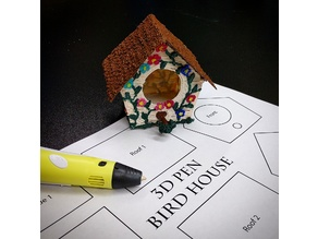 3D Pen Bird House (Template)
