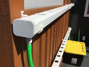 Hydroponic NFT Downspout End Cap