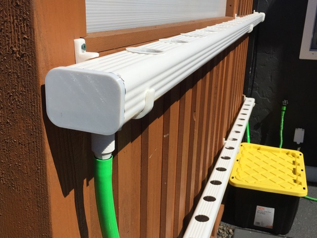 Hydroponic Nft Downspout End Cap By Gmoi Thingiverse