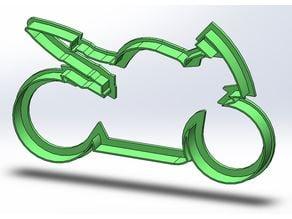 Motorbike cookie cutter