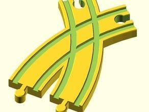 Toy Wood Train Track / Spielzeug Holzeisenbahn Schienen / Kreuzung Kurve 2 / BRIO Thomas IKEA eBay kompatibel