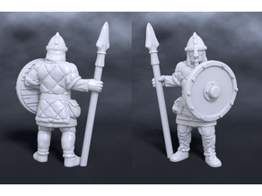 Nord warrior with spear and shield