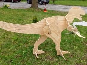 T-Rex Lawn Art