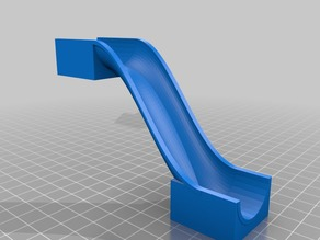 Duplo/Hubelino compatible steep slim marble ramp