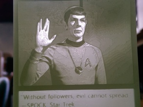 Mr. Spock Lithophane Meme