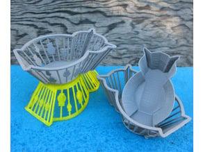 Three Owl Baskets