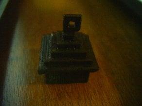 Minecraft house key chain