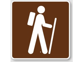 Hiking Sign Character