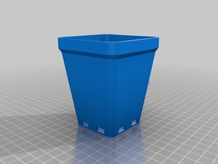 Tapered Square pot 90mm tall V1