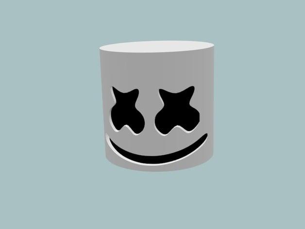 Marshmello Mask By Tedezed Thingiverse