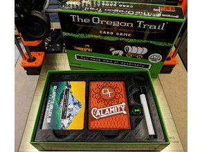 The Oregon Trail Card Game Box Insert