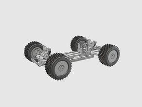 Powered-Wheel Truggy 1/12 Scale Finished