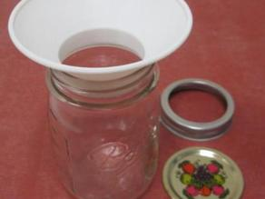 Canning Funnel for Pint or Half Pint Wide Mouth Ball or Mason Jar