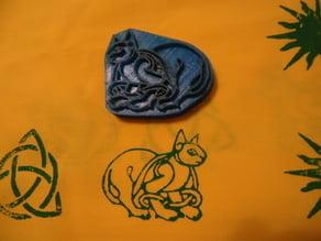 Celtic Kitty Stamp