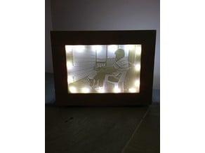 Lithophane Frame with LED Backlight