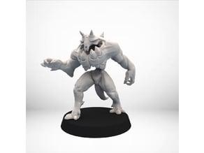 D&D Golem miniature Pose 1