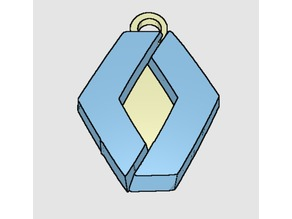 Renault logo keychain
