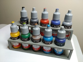 Parametric paint bottle rack