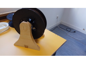 Simple plywood spool holder CNC