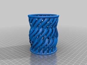 Twistet wall vase