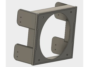 """120mm Fan Mount for 5.25"""" bay (compatible with hdd bracket)"""