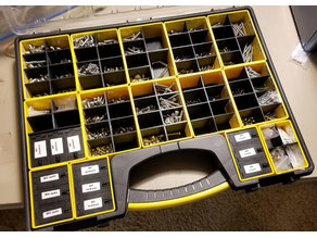 Stanley 014725R organizer bin dividers (with STEP files)