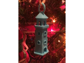 Lighthouse Christmas Tree Ornament