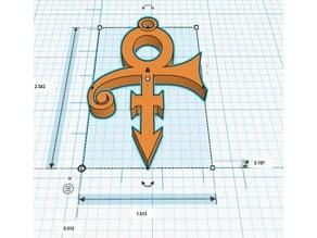 Prince Symbol Keychain