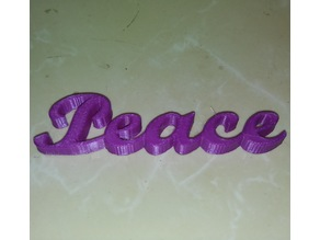 Peace Script Ornament IEC3D