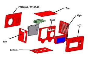 V1.0 Scalar - Electronic Box for MKS GEN 1.4 / MKS GEN L + LCD2004 + RPI3