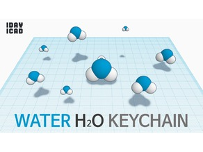 [1DAY_1CAD] WATER H2O KEYCHAIN