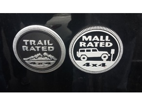 Mall Rated Jeep Badge