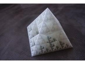 spiral vase Sierpinski pyramid (Openscad)