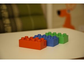 Realy Duplo Compatible 3D-Printing Optimized Brick (4x2)