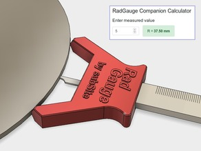 Rad Radius Gauge - the RadGauge - With Companion App